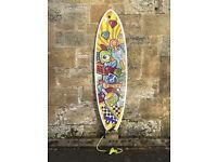 CAN SEND, Torq Fish Surfboard 6'3, thruster, twin fin, SET, 36L, Fun Board, leash, fins