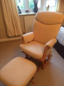 Rocking / Nursing chair and footstool