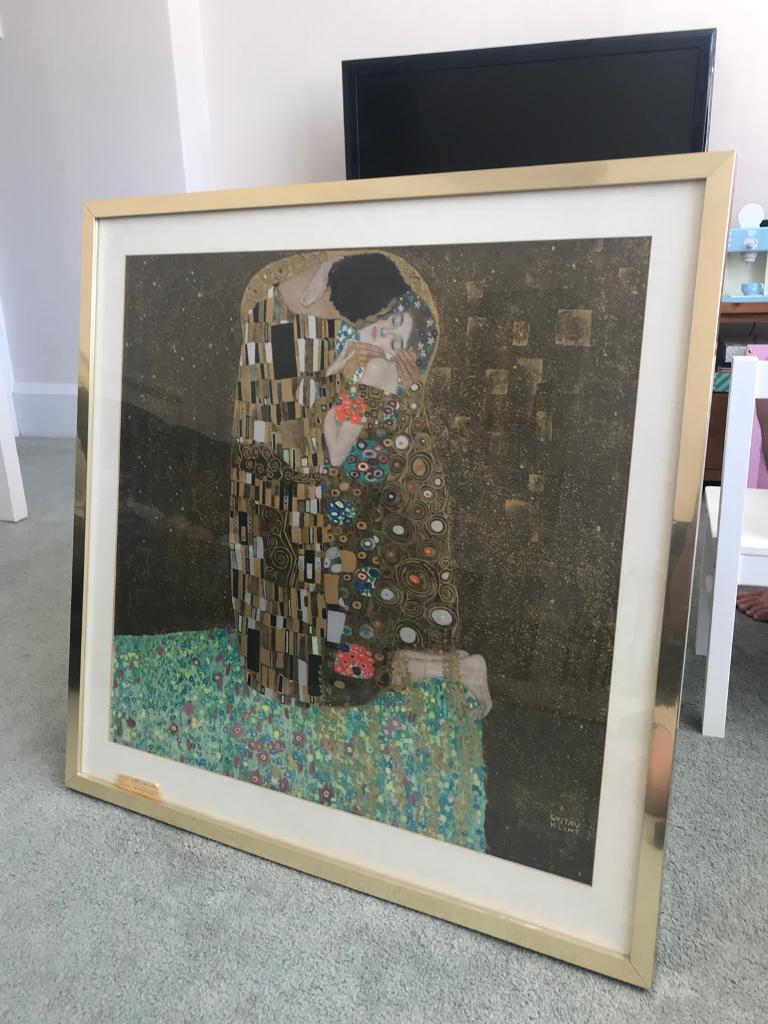 """Gustav Klimt """"The Kiss"""" framed print   in Bournemouth, Dorset   Gumtree"""