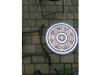 Brand new mosaic bistro set