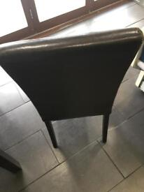 Leather brown chairs