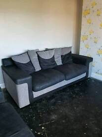 THREE PIECE SUITE NEED GONE ASAP!!!! Sofa/settee x2 and chair.