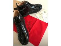 Louis spikes men's flat black/ patent Sneakers ( eur 42 / uk 8 )