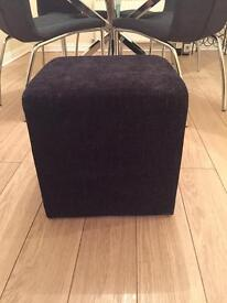 Black footstool from dunelm Rydal range