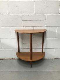 Retro half moon hall Table