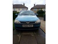 Vauxhall CORSA 2003 - VERY GOOD CONDITION (MOT DEC 2017)