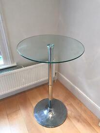 Glass kitchen table.