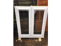 Double Glaze windows with trickle vents and chrome handle with lead bar
