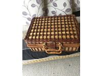 Wicker picnic basket - great condition