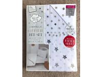 BRAND NEW STARRY NIGHT COMPLETE SINGLE BED SET