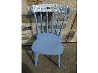 Hand Painted Custom Fare Isle Design Chair
