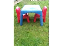 Elc table and chair set