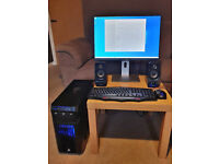 """Fast Gaming PC Set with high-end 24"""" Dell U2415 UltraSharp monitor, speakers, gaming mouse and KB"""