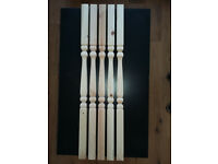 5 x Pine Provincial Staircase Spindles 900mm length