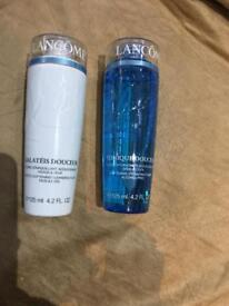 Lancôme cleaning fluid and toner