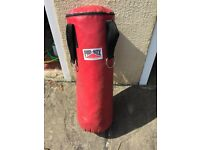 Pro-Box Punch Bag 3 ft in Red hanging