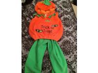 Pumpkin Halloween costume 2 -3 years