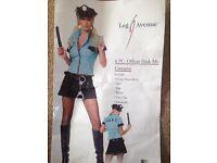 Ladies LAPD cop fancy dress costume size 12-14