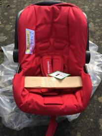 Brand new baby car seat from Mothercare Red