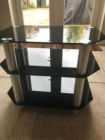 Black\ Silver TV stand