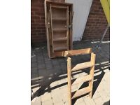 Roto Frank wooden loft ladder counterbalanced (no lift weight) similar TB Davies Luxfold