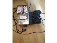 PS2 with 2games and 2controlers and memory card!