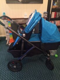 Uppababy vista 2015 (can use as double and single)