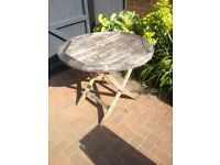Wooden folding garden table 90cm diameter