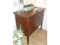 Beautiful Old Chest Of 3 Drawers
