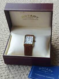 Rotary Men's Watch, 9K Gold Casing
