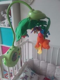 Fisher Price Rainforest Peek-A-Boo Leaves Musical Cot Mobile