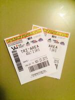 2 adult Tri area passes for 2 days!