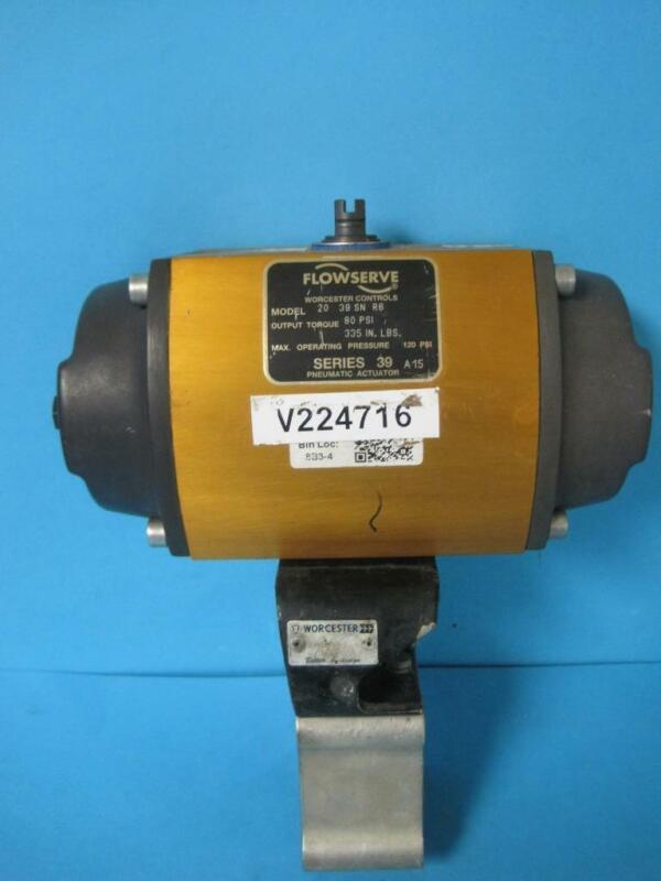 Flowserve Worchester Controls Series 39 Pneumatic Actuator Mdl 20 39 SN R6 80PSI