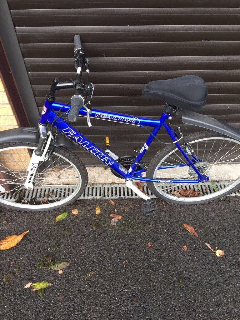 Boys blue falcon bike for sale hardly used