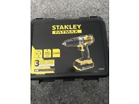FOR SALE stanley fatmax drill has 2 batteries 18v lithium.