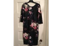 Topshop maternity floral print dress size 8