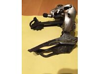 Sora triple front mech and Deore rear mech. Used but in good condition.