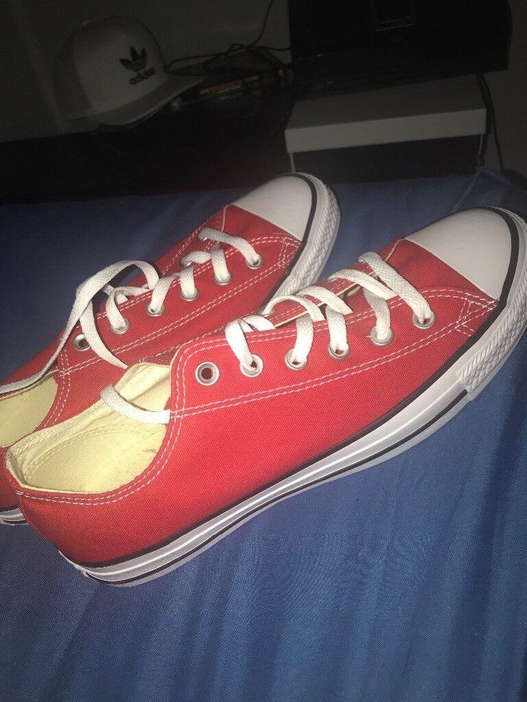 Men s Red Converse Size 8 BRAND NEW  e1fb3ebc2