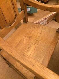 Solid oak dinning table and 10 solid oak chairs