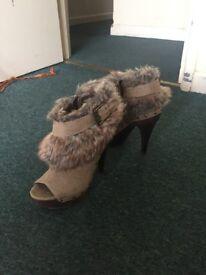 Next Runway Collection 39 EUR Heels 55£ Fur boots