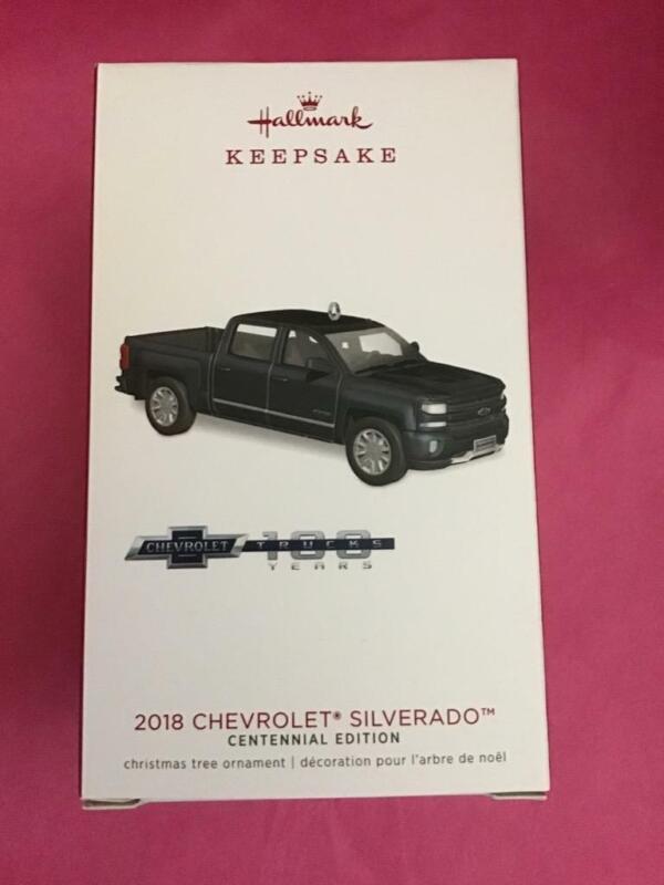 Hallmark Keepsake Ornament 2018 Chevrolet Silverado Centennial Edition Truck New