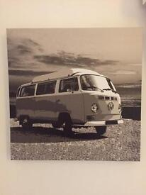 Black and White campervan canvas