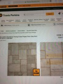 Indian sandstone paving 15.23 metres