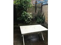 Outdoor painted picnic table. Must collect