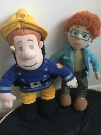 Talking plush fireman sam and norman