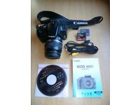 Canon EOS400D camera with lens and extras