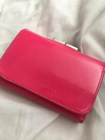 Leather ted baker purse