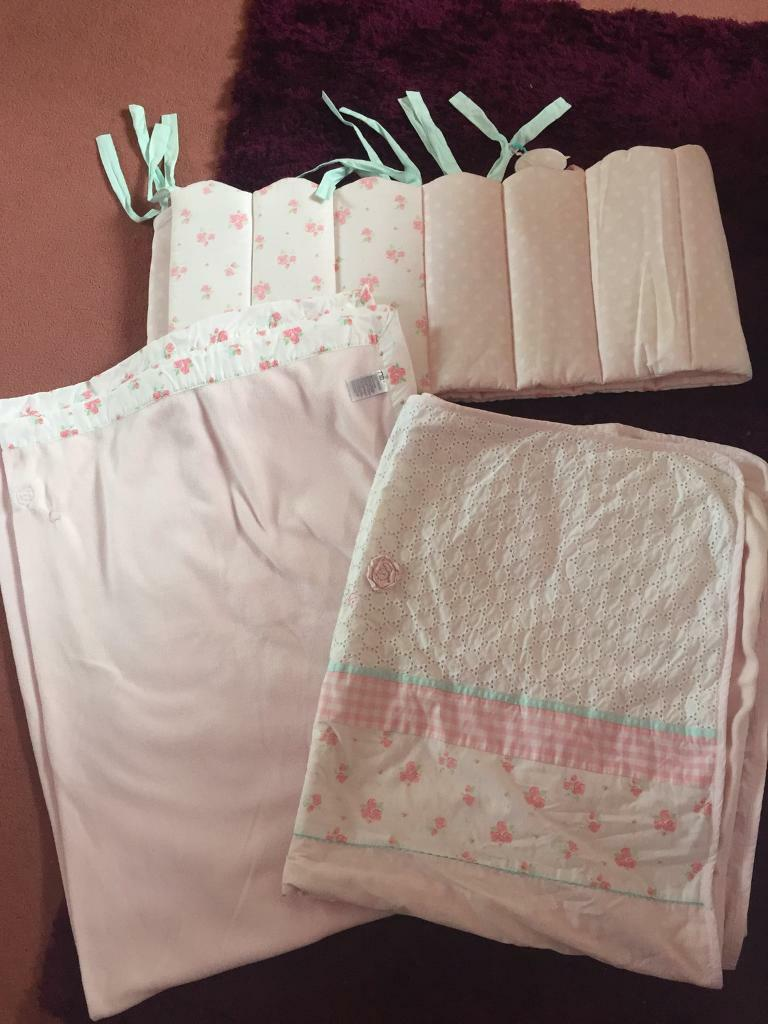 Mothercare Little Lane Cot/Cot Bed Bedding Set