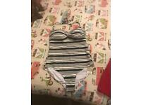 NEW Stripy Swimming Costume Size 16