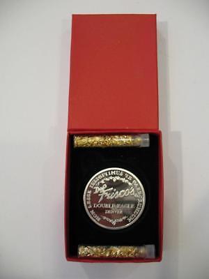 1-OZ.999 PURE SILVER RARE1994 DOUBLE EAGLE FAMOUS DENVER DEL FRISCO'S + GOLD